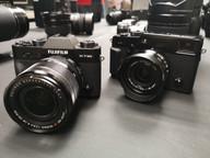 Fuji X-T30 con el 18-55mm f2.8-4 y la X-Pro2 con el 16mm f2.8