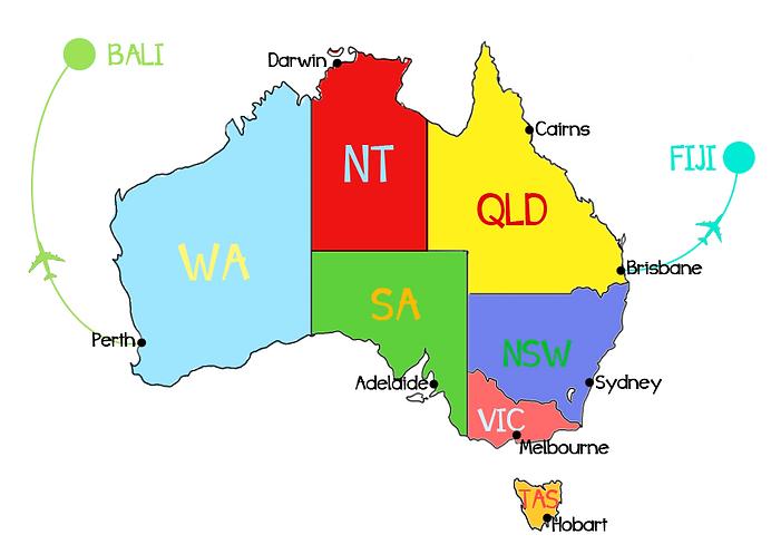 carte australie, blog australie