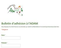 ADAM Bulletin adhésion