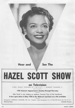 Promo poster for TheHazel Scott Show