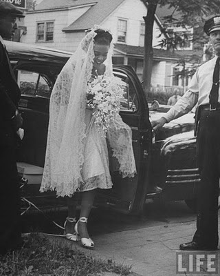 Hazel Scott on her wedding day
