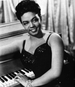 Hazel Scott on the set of I DOOD IT