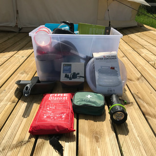 Essential camping kit