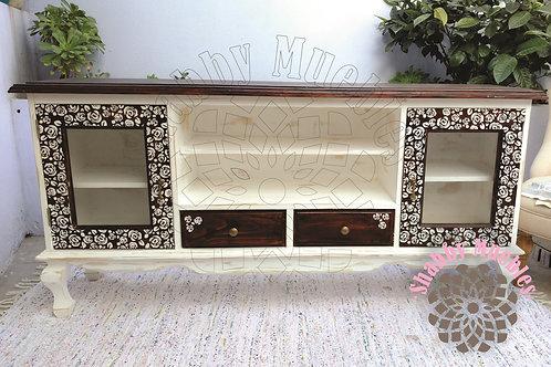 Mueble de TV Provenzal con flores