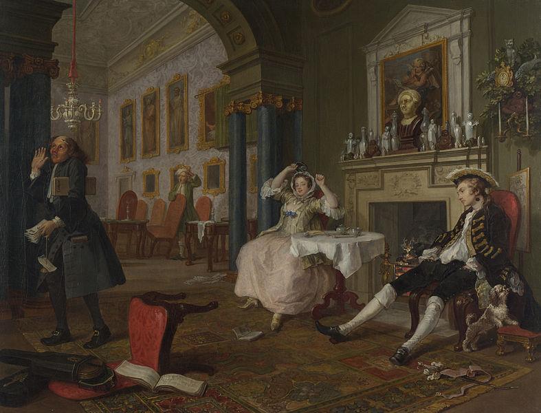 Marriage à-la-mode. 2: The Tête-à-Tête, 1743. Londra, National Gallery
