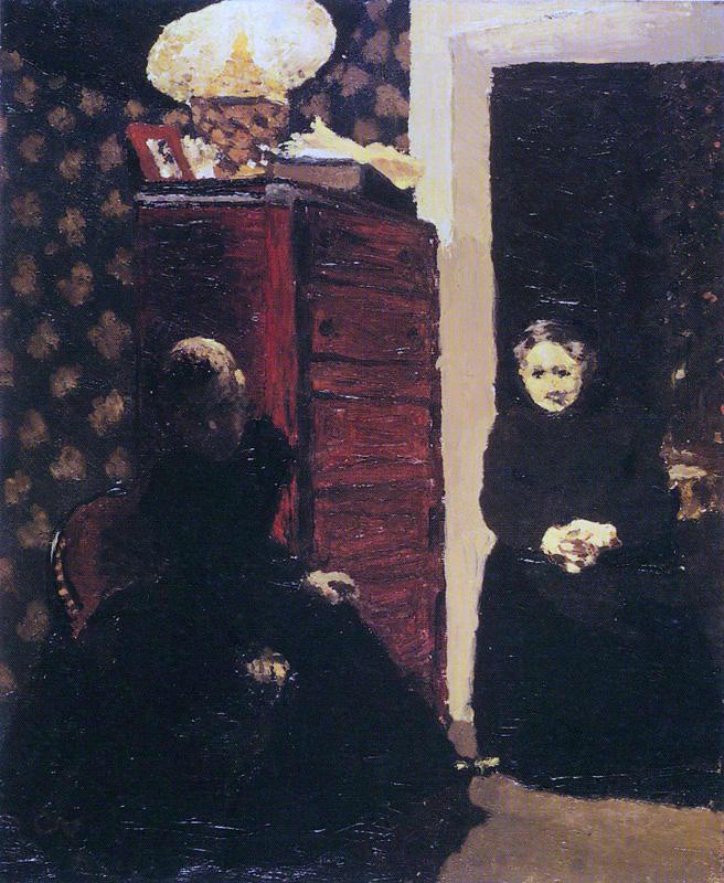 Figura 4: Édouard Vuillard, Dans un intérieur, effet de soir ou Intérieur au chiffonnier, 1893. Kunstmuseum, Winterthur