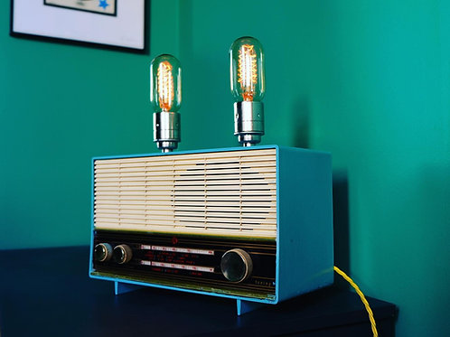 BABY BLUE - Vintage Radio Lamp
