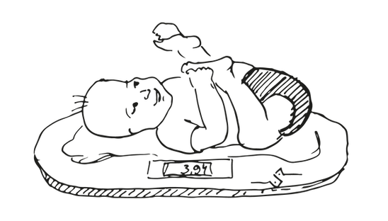 Crystal Apotheke Rosenheim - Baby Zeichnung - Erstellung Wochenbettpaket
