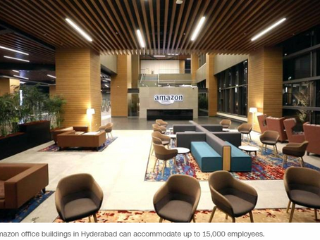 Amazon just opened its biggest office building not in UNITED STATES but in INDIA