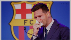 Lionel Messi in tears end at FCB, receives ovation.