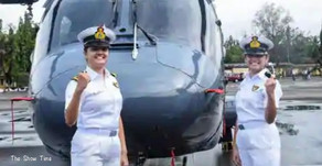 India's first 2 women officers to operate Navy warship helicopters