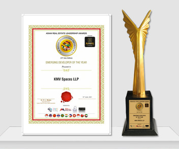 Asian Real Estate Leadership Award- Emerging Developer of the Year 2021- KMV Spaces - KMV Vivaan
