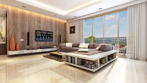 Living Room in Vivaan Apartments