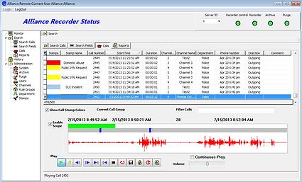 Alliance Recorder Screen