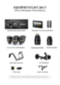 Overview of camera equipment to rent