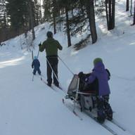 """Family ski around the """"big loop"""" by Trisha Clark"""