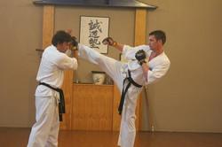 Black Belts Sparring