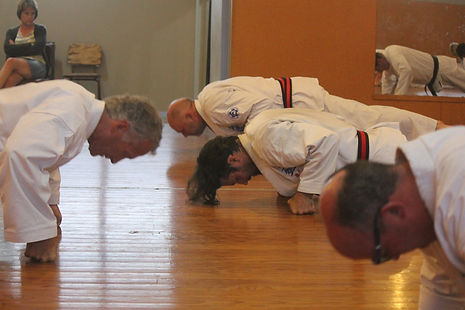 Strength training at Seido Karate Te Awamutu