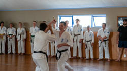 Knife defence demonstration at 40th Anni