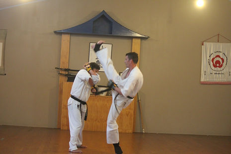 Sparring at Seido Karate Te Awamutu