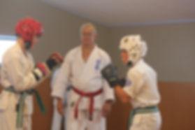 Sparring class at Seido Karate Te Awamutu