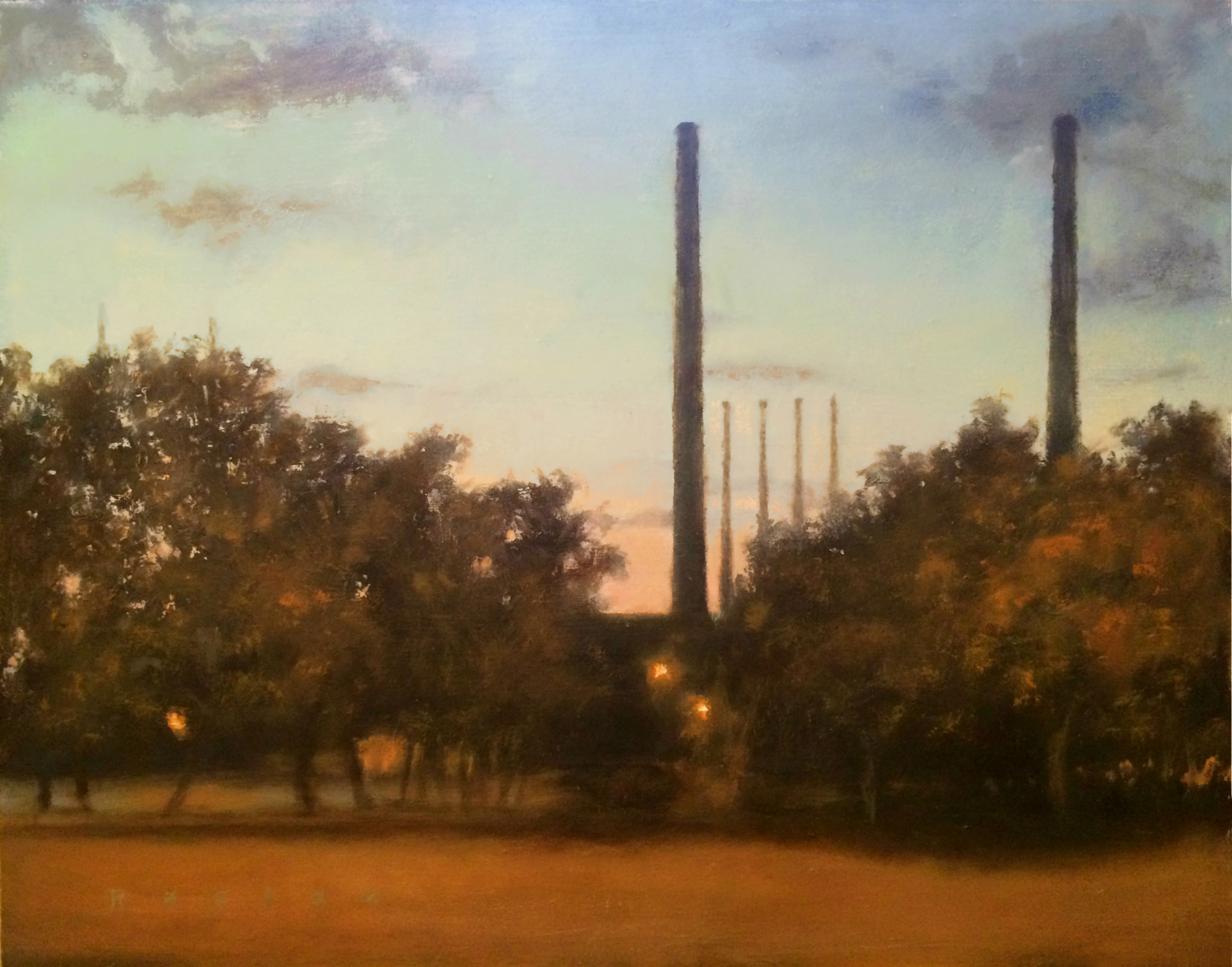 Oswego Plant in Twilight