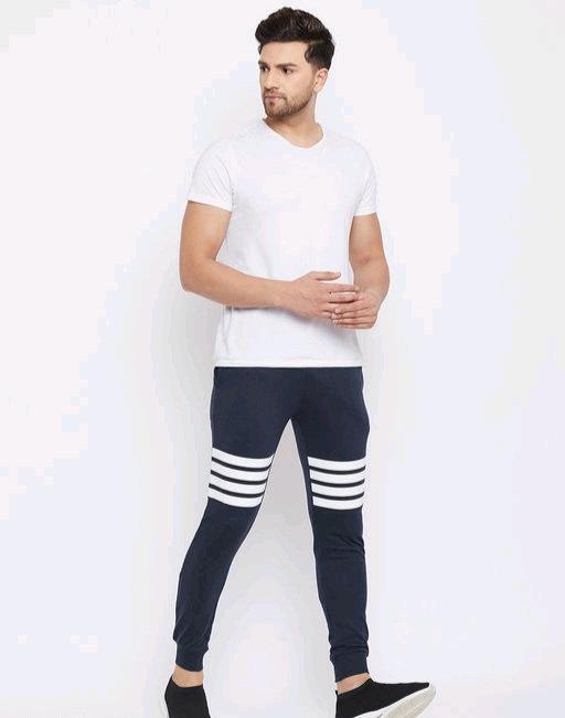 Austin wood Men's Navy blue printed slim fit Track Pant