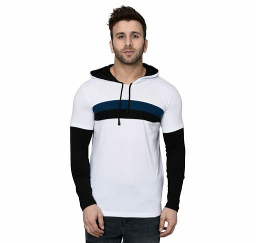 Cotton Stylish Hooded T-shirt
