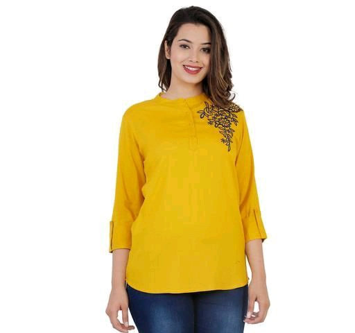 Women's Embroidered Rayon top