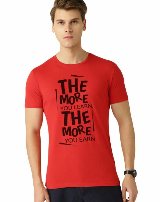 Dcrooz Half Sleeve Printed Cotton T-shirts For men
