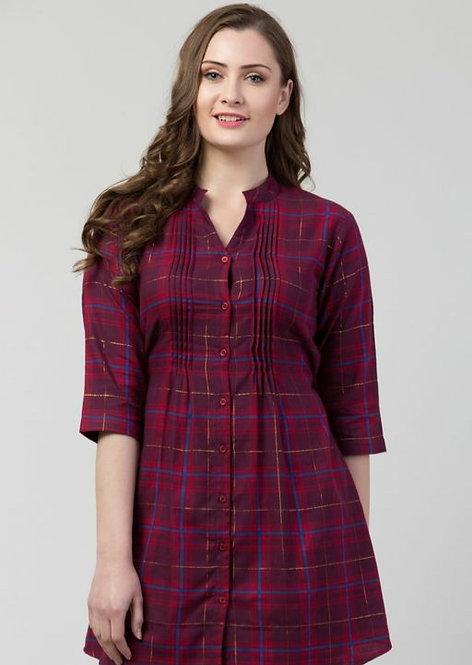 Women's Checked Cotton Top
