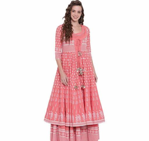 Women's Ethnic motif Printed Cotton Long Kurti