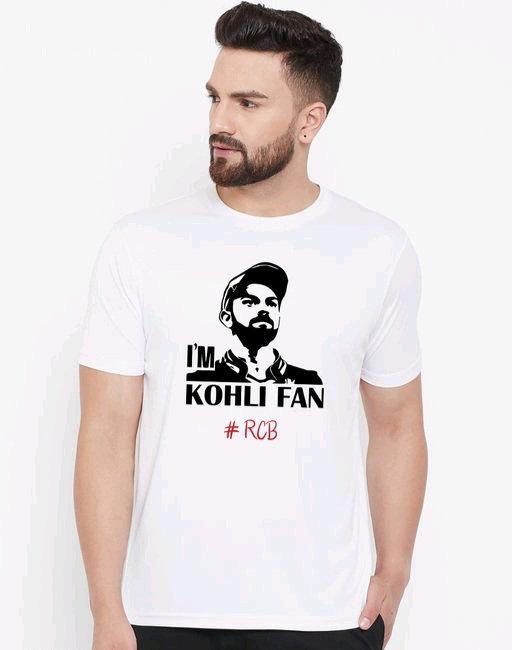 Wesquare Roundneck Half sleeve Kohli face Printed T-shirts