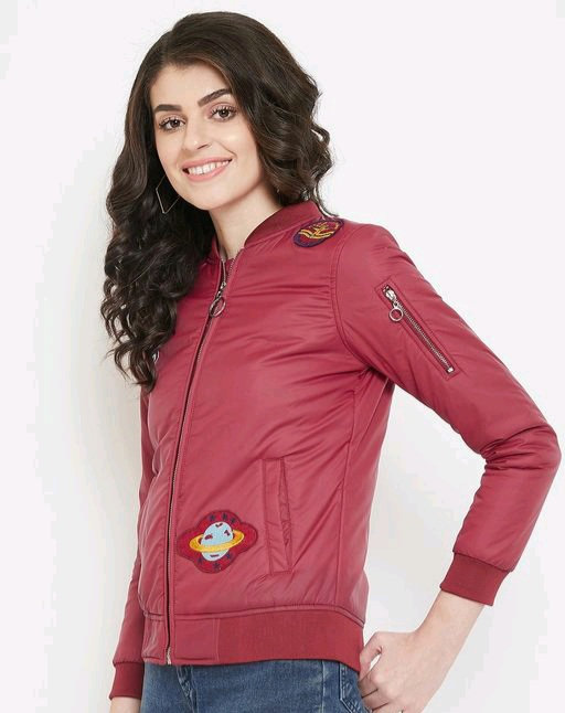 Austin wood women's full sleeves jacket with Embroidery