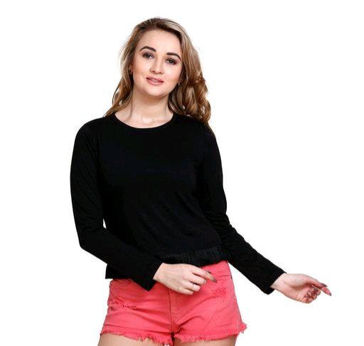 Women's Solid Black cotton top