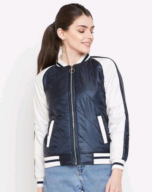 Austin wood women's navy blue full sleeves jacket