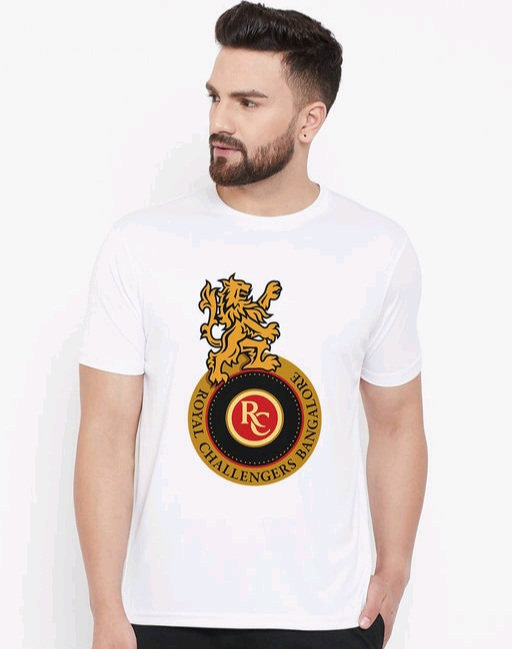 Wesquare Roundneck Half sleeve RCB Printed T-shirts
