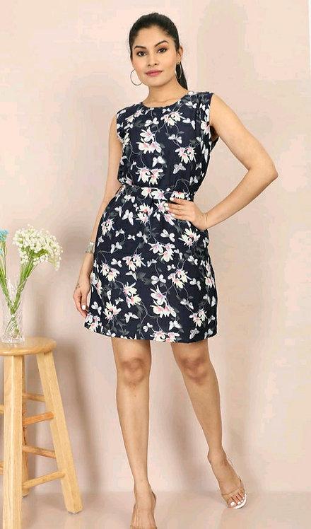 Women's Printed Crepe Dress