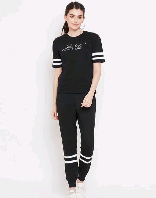 Austin wood Black Half sleeves Printed track suit