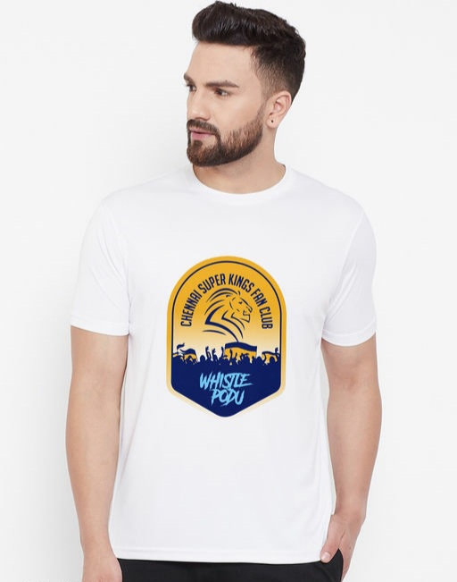 Wesquare Roundneck Half sleeve CSK Fans Club Printed T-shirts