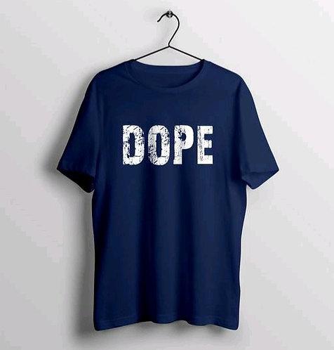 Trendy Dope text Printed Men's T-shirt