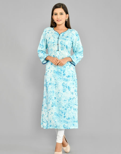 Adrika Printed Blue Kurti