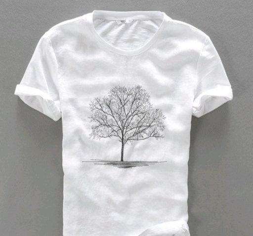 Attractive Men's White T-shirt
