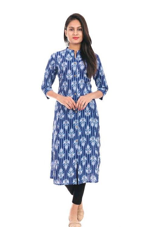 Women's Floral Printed Cotton Kurti