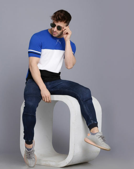 Comfy Striped Round Neck Multicolor T-shirt