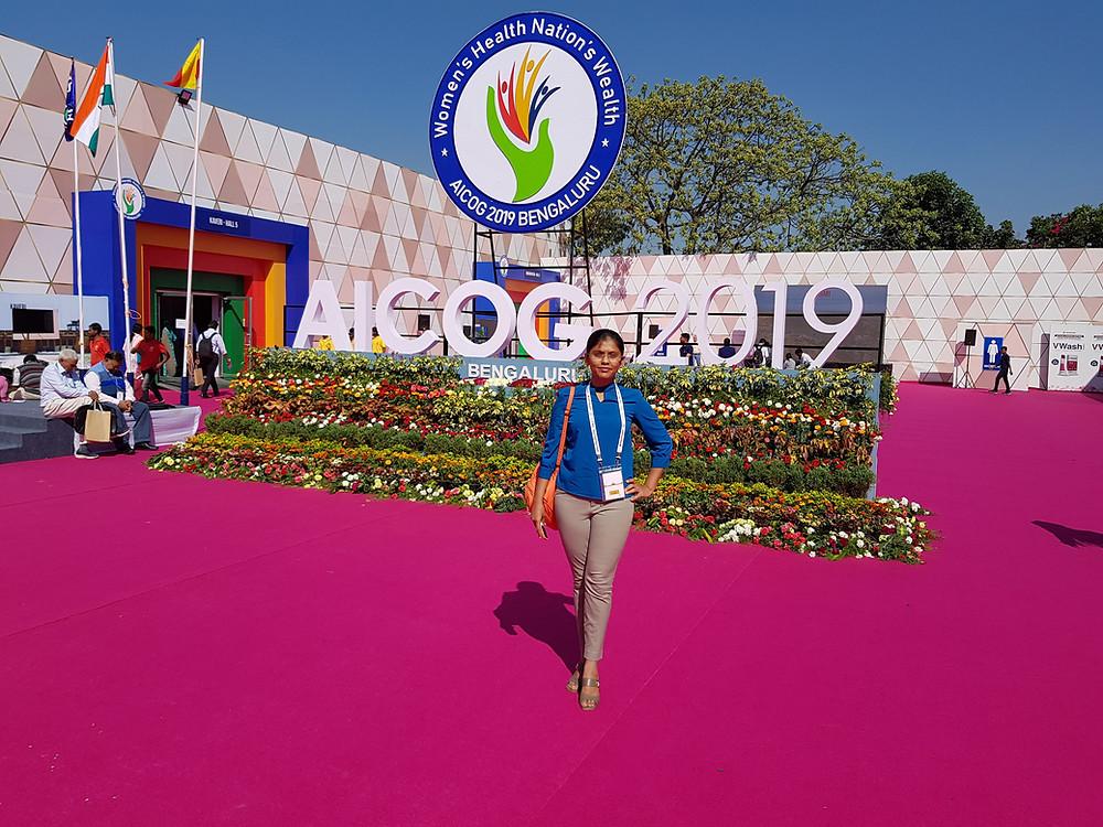 Dr Rashmi N at AICOG 2019 Bangalore