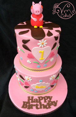 2-Tier Peppa Pig theme