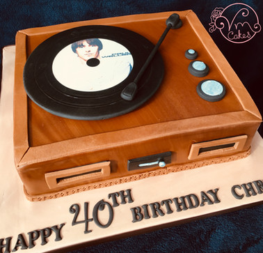 Vintage record player theme