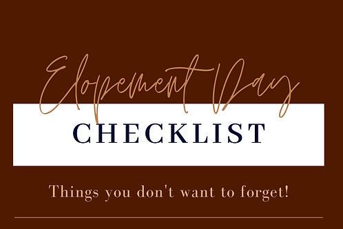 Adventurous Elopement Day Checklist
