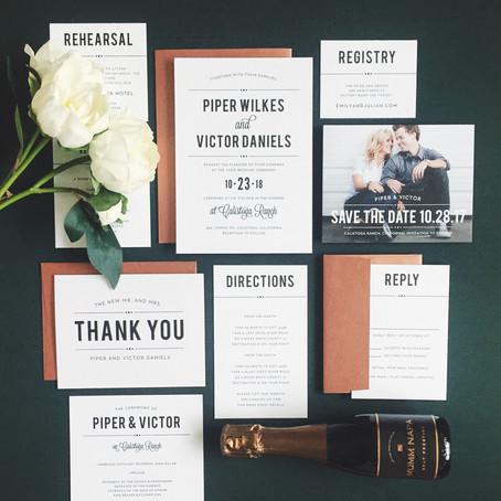 Simple Wedding Invitations from Basic Invite!